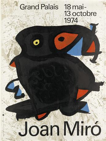 JOAN MIRÓ (1893-1983) & JEAN DUBUFFET (1901-1985). [GRAND PALAIS.] Two posters. 1973-1974. Sizes vary, each approximately 63x47 inches,