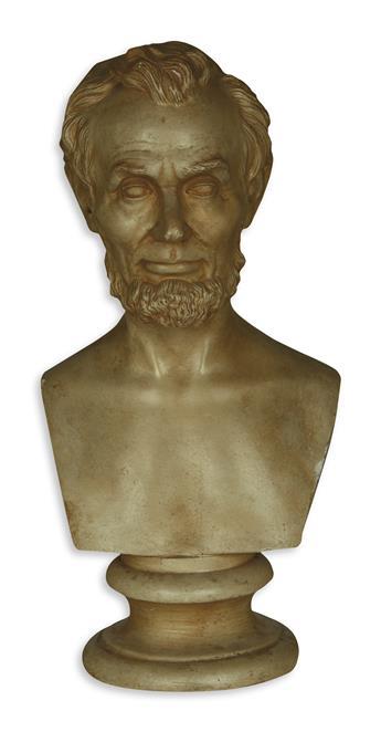 (SCULPTURE.) Milmore, Martin; sculptor. Parianware bust of Lincoln.