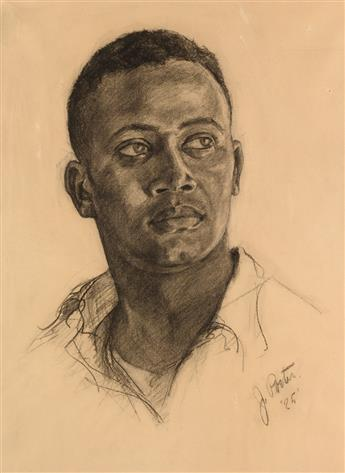 JAMES A. PORTER (1905 - 1970) Head of a Young Man.