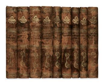 MURILLO VELARDE, PEDRO, S. J. Geographia Historica.  Vols. 1-9 (of 10).  1752