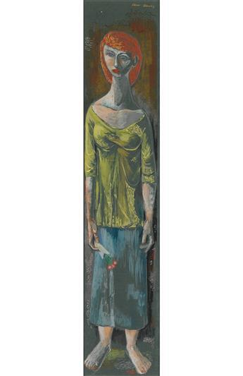FREDERICK D. JONES (1914 - 2004) Women with Flowers.