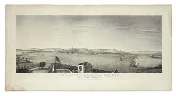 POWNALL, THOMAS; after. A View of the City of Boston the Capital of New England, in North America.