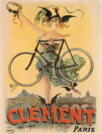 PAL (JEAN DE PALÉOLOGUE, 1860-1942). CYCLES CLÉMENT. 1898. 61x45 inches, 155x116 cm. Caby & Chardin, Paris.