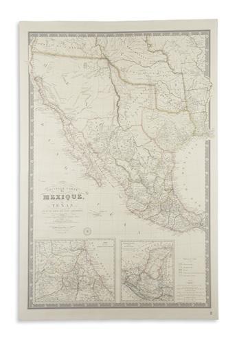 BRUÉ, ADRIEN HUBERT. Nouvelle Carte du Mexique, du Texas et dUne Partie des Etats Limitrophes.