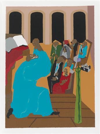JACOB LAWRENCE (1917 - 2000) The First Book of Moses Called Genesis.
