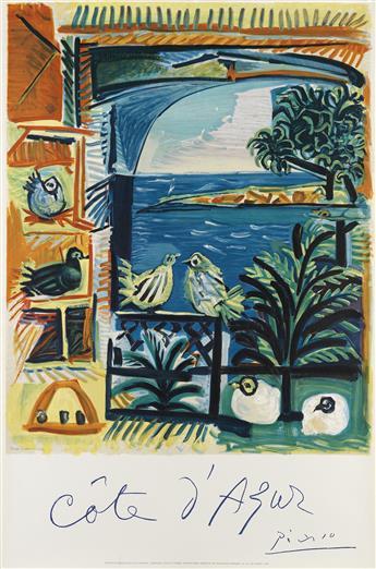PABLO PICASSO (1881-1973). CÔTE DAZUR. 1962. 38x25 inches, 98x65 cm. Mourlot, Paris.