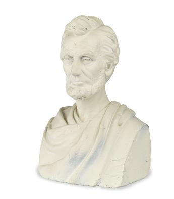 (SCULPTURE.) Ames, Sarah Fisher; sculptor. Bust of Lincoln, based on a sitting she arranged shortly before the Gettysburg Address.