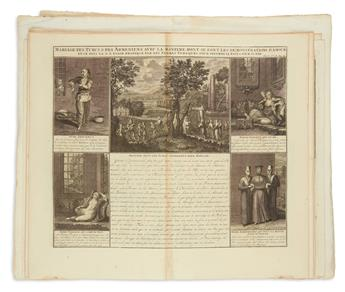 CHATELAIN, HENRI. Group of 28 double-page or folding plates from Atlas Historique,