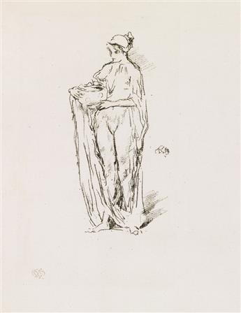 JAMES A. M. WHISTLER Girl with Bowl.