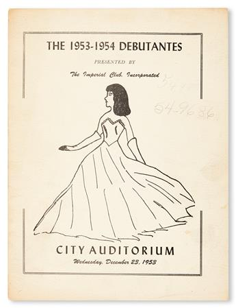(SOCIETY.) BIRMINGHAM, ALABAMA. Debutantes, Coming Out 1950; 1953; 1955; and 1957 (4 booklets).