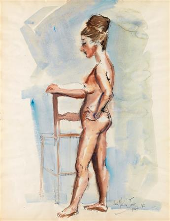 LOÏS MAILOU JONES (1905 - 1998) Untitled (Nude with Chair).