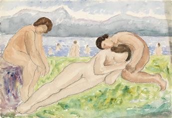 ABRAHAM WALKOWITZ Bathers (Three Nudes).
