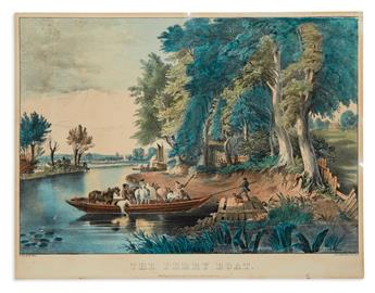 CURRIER, NATHANIEL. The Ferry Boat.