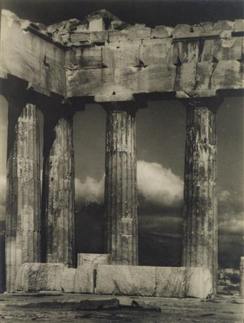 ARNOLD GENTHE (1869-1942) The Parthenon, Athens, Greece.