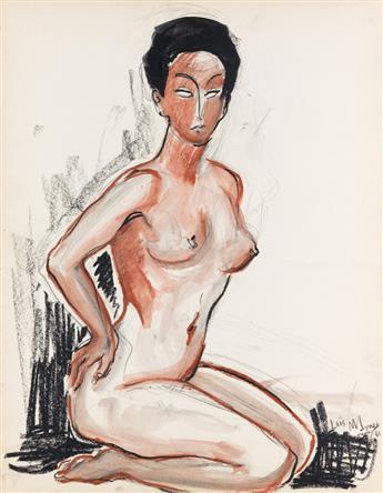 LOÏS MAILOU JONES (1905 - 1998) Untitled (Kneeling Nude).