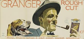 LUDWIG HOHLWEIN (1874-1949). [TOBACCO ADVERTISEMENTS.] Two posters. Each approximately 9x20 inches, 24x52 cm.