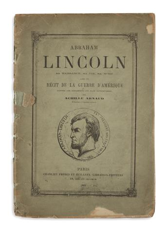 (BOOKS AND PAMPHLETS.) Group of 30 pamphlets on Lincoln and related topics.