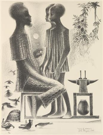 JOHN BIGGERS (1924 - 2001) Twins of Morning.