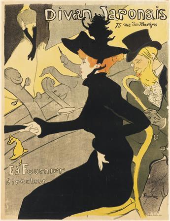 HENRI DE TOULOUSE-LAUTREC (1864-1901). DIVAN JAPONAIS. 1893. 31x24 inches, 80x61 cm. Edw. Ancourt, Paris.
