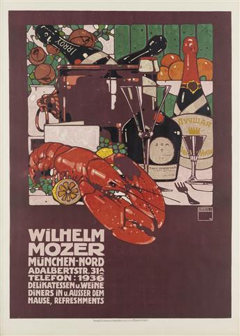 LUDWIG HOHLWEIN (1874-1949). WILHELM MOZER. 1909. 48x35 inches, 122x90 cm. G. Schuh & Cie., Munich.