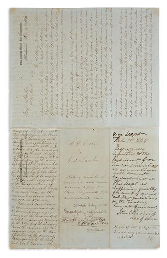 PICTURE OF DESPERATE CSA TREASURY DURING SIEGE OF PETERSBURG (CIVIL WAR.) JEFFERSON DAVIS. Two Autograph Endo...