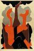 NATALIA GONTCHAROVA. (1881-1962) [GRAND BAL DE NUIT / SALLE BULLIER GRAND BAL DES ARTISTES.] Before letters. 1926. 45x30 inches. [Josep