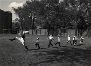 ALFRED EISENSTAEDT (1998-1995) Drum Major and Children, University of Michigan.