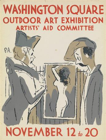 PETER ARNO (1904-1968). WASHINGTON SQUARE / OUTDOOR ART EXHIBITION. 1932. 12x9 inches, 31x24 cm.