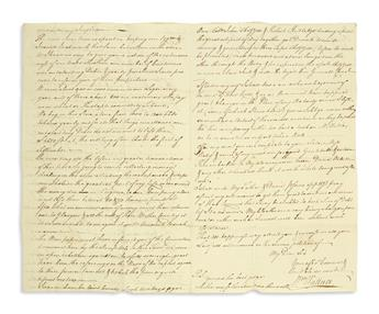 (AMERICAN REVOLUTION--PRELUDE.) Wallace, William. Letter discussing Stamp Act disturbances in Virginia.