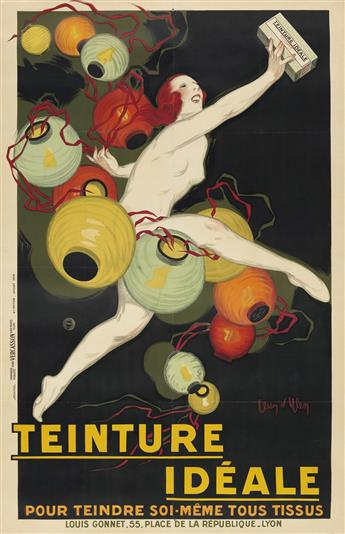 JEAN DYLEN (1866-1938). TEINTURE IDÉALE. 1928. 78x51 inches, 200x129 cm. Vercasson, Paris.