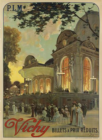 LOUIS TAUZIN (1845-1914). VICHY. 1911. 42x30 inches, 107x76 cm. F. Champenois, Paris.