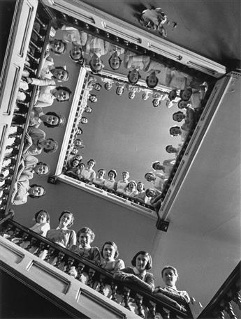 ALFRED EISENSTAEDT (1898-1995) Nurses at Roosevelt Hospital, New York City.
