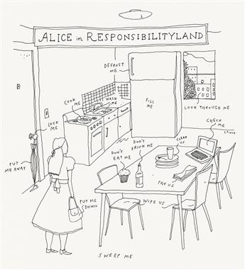 LIANA FINCK. (THE NEW YORKER / CARTOON) Alice in Responsibilityland.
