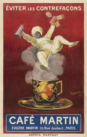 LEONETTO CAPPIELLO (1875-1942). CAFÉ MARTIN. 1921. 78x51 inches, 200x129 cm. Devambez, Paris.