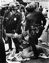 (POLITICAL DEMONSTRATIONS, RALLIES & STRIKES) Binder with 48 politically engaged photographs of (mostly American) demonstrators protest