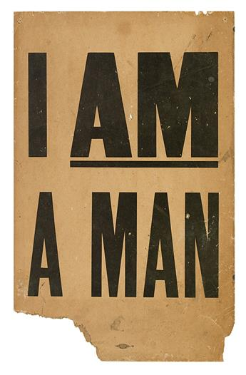 (CIVIL RIGHTS--KING, MARTIN LUTHER JR.) I AM A MAN.