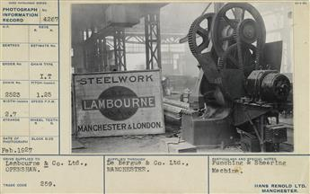 (INDUSTRIAL--CHAIN COMPANY) A vast industrial archive with approximately 562 individually mounted photographs of interesting machinery