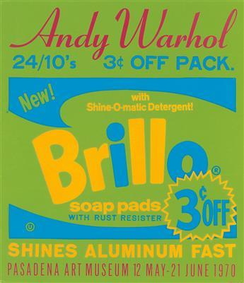DAPRÈS ANDY WARHOL (1928-1987). BRILLO SOAP PADS. 1970. 30x26 inches, 76x66 cm.