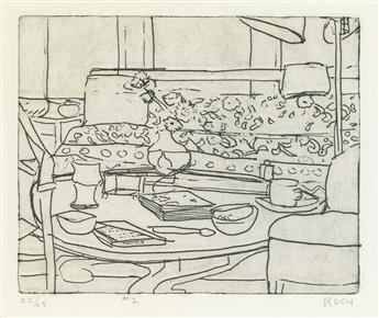 RICHARD DIEBENKORN 41 Etchings Drypoints: #2.