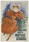 JULES CHÉRET (1836-1932) PASTILLES GERAUDEL. 1896. [Courier Français Supplement, January 19, 1896] 22x15 inches. Chaix (Ateliers Cheret