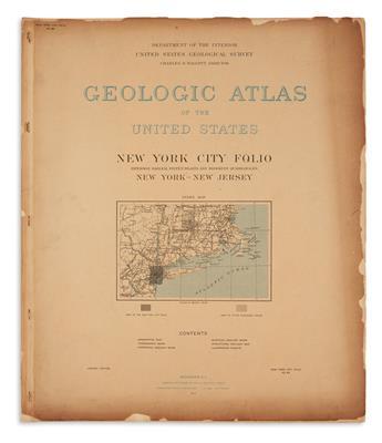 UNITED STATES GEOLOGICAL SURVEY. Geologic Atlas of the United States. New York City Folio.