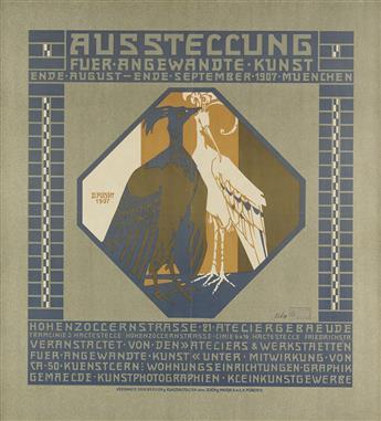 DORA BRANDENBURG-POLSTER (1884-1958). AUSSTELLUNG FUER ANGEWANDTE KUNST. 1907. 29x27 inches, 73x68 cm. Schön & Maison, Munich.