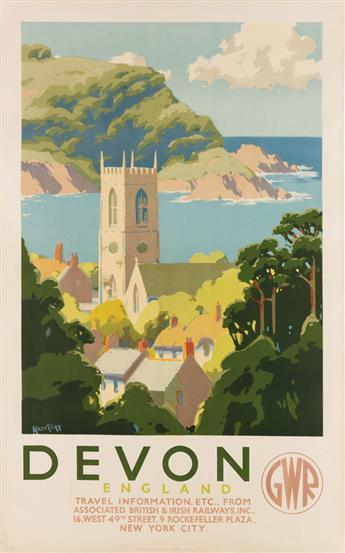 ALKER TRIPP (1883-1954). DEVON / GWR. Circa 1930s. 39x24 inches, 101x63 cm. The Dangerfield Printing Co. Ltd., London.