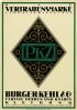 OTTO BAUMBERGER (1889-1961) PKZ / VERTRAUENSMARKE. 1917. 50x35 inches. Anstalt J. E. Wolfensberger, Zurich.