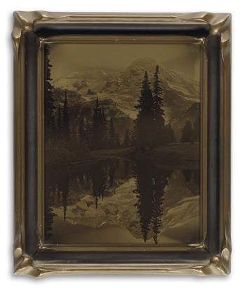 JAMES BERT BARTON (1881-1967) Mount Rainer, Mirror Lake, Washington.