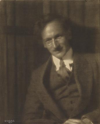 WILHELM SCHWIND (1862-1945) Portrait of Heinrich Kühn.