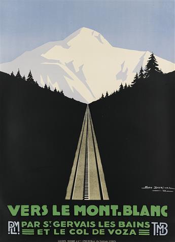 GEORGES DORIVAL (1879-1968). VERS LE MONT - BLANC. 1928. 41x29 inches, 104x75 cm. Lucien Serre, Paris.