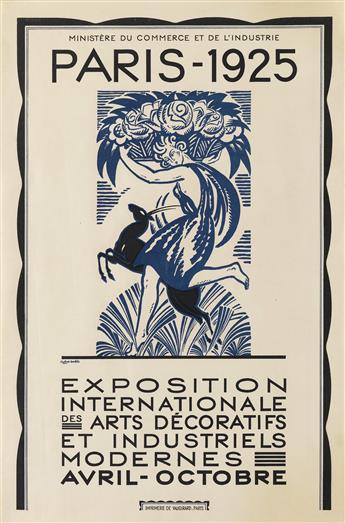 ROBERT BONFILS (1886-1972). PARIS / EXPOSITION INTERNATIONALE DES ARTS DÉCORATIFS ET INDUSTRIELS MODERNES. 1925. 23x15 inches, 59x40 cm