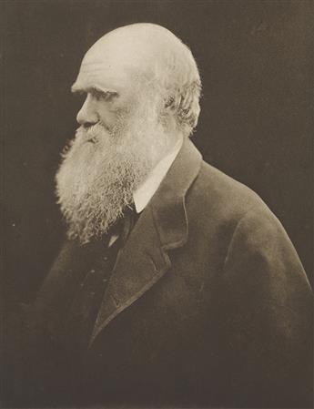 (JULIA MARGARET CAMERON) (1815-1879) Charles Darwin.