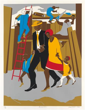 JACOB LAWRENCE (1917 - 2000) Builders (The Family).